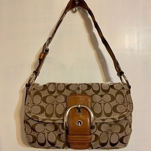 Coach Soho Signature Flap Pocket Handbag